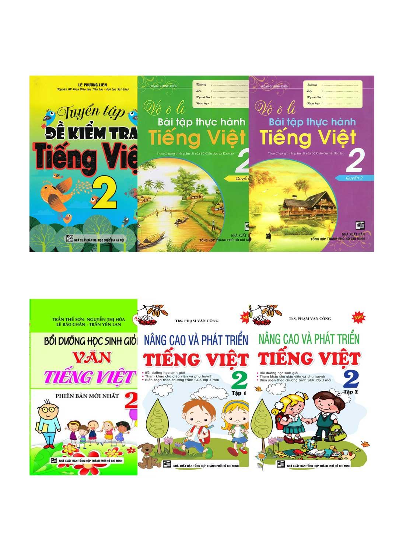 Combo Sách Tham Khảo Bổ Trợ Kiến Thức Tiếng Việt Lớp 2