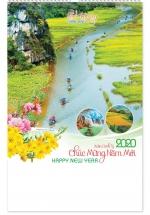 Lịch Lò Xo 7 Tờ 2020 40x60 Cm - Quê Hương Thanh Bình - NS29