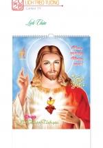 Lịch Nẹp Thiếc 5 Tờ 2020 (45x70 Cm) - Lịch Chúa - NS71