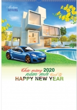 Lịch Nẹp Thiếc 7 Tờ 2020 40x60 Cm - Model House - HT60