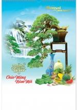 Lịch Nẹp Thiếc 7 Tờ 2020 40x60 Cm - Bonsai Nghệ Thuật - HT48