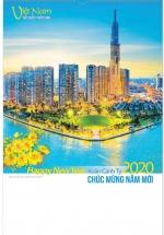 Lịch Lò Xo 7 Tờ 2020 40x60 Cm - Đất Nước Phồn Vinh - HT35