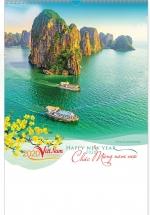 Lịch Nẹp Thiếc 7 Tờ 2020 40x60 Cm - Việt Nam Thơ Mộng - HT34