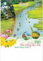 Lịch Nẹp Thiếc 7 Tờ 2020 40x60 Cm - Quê Hương Thanh Bình - HT30