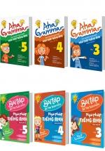 Combo Tiếng Anh Cho Trẻ Tiểu Học Aha Grammar (6 Cuốn)