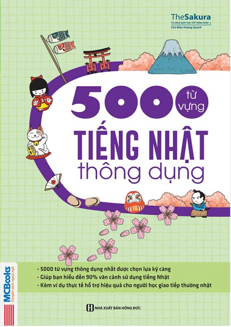 5000 Từ Vựng Tiếng Nhật Thông Dụng