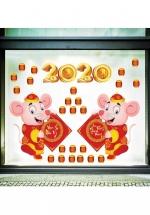 Decal Trang Trí Tết Chuột Mừng Năm Mới 2020