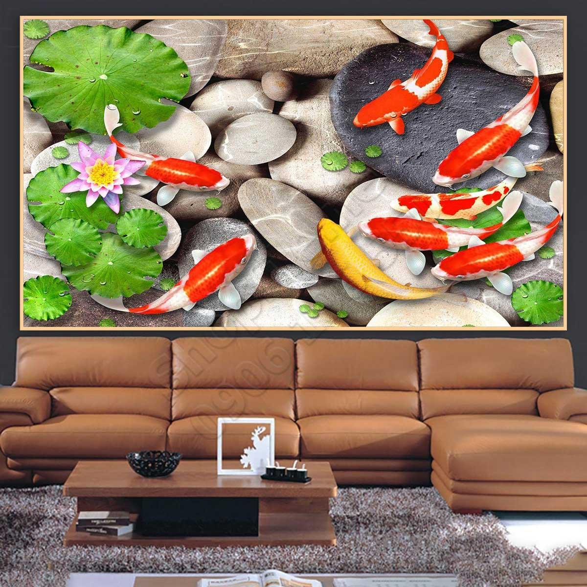 Tranh Giả Ngọc Cá Koi - NS973