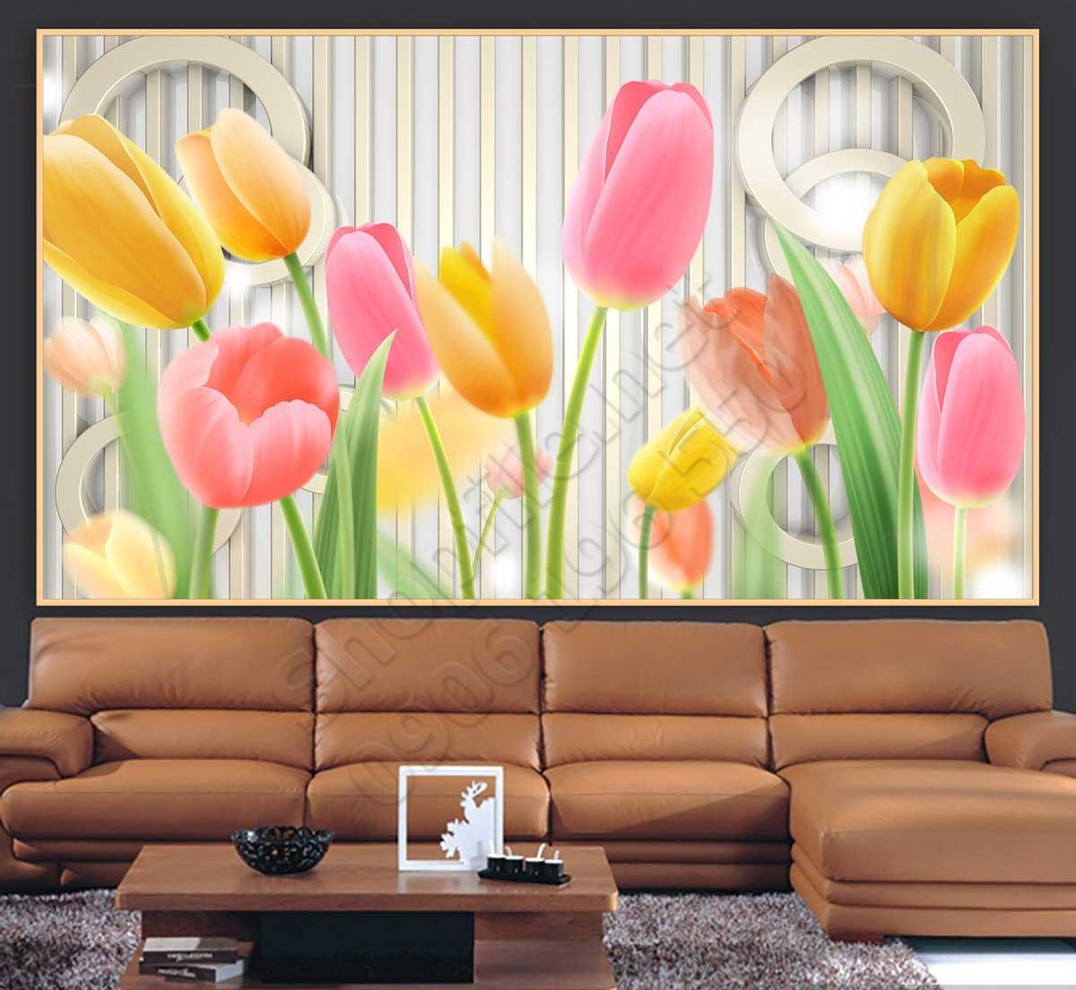 Tranh 3D Hoa Tulip Trang Trí - NS1154