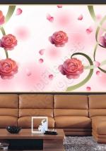 Tranh 3D Hoa Hồng Trang Trí - NS1136