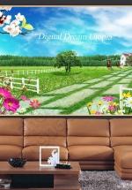 Tranh 3D Sân Vườn Biệt Thự - NS1397