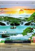 Tranh Phong Cảnh Thác Mùa Xuân - NS2612