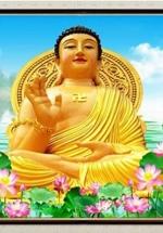 Tranh Phật Tổ Và Hoa Sen Treo Tường - NS960