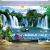Tranh Thác Nước Phong Thủy Và Cây Tre - NS2589