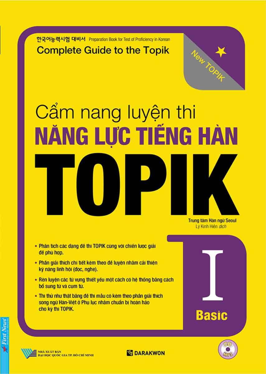 Cẩm Nang Luyện Thi Năng Lực Tiếng Hàn Topik I Basic