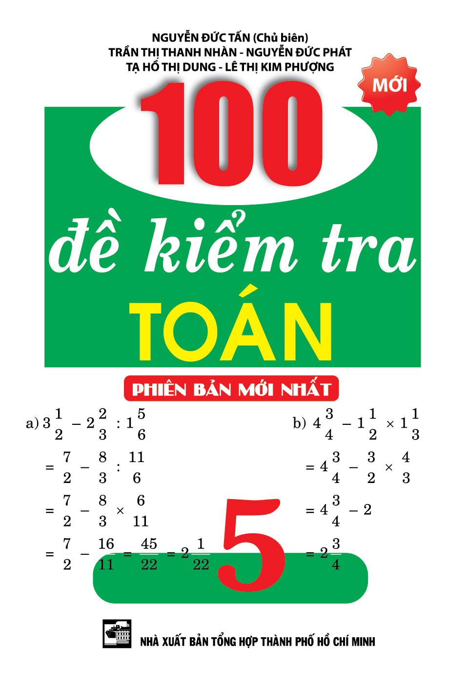 100 Đề Kiểm Tra Toán 5