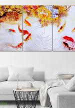 Tranh Treo Tường Cá Nghệ Thuật 01 (3 Tấm 40×60 Cm)