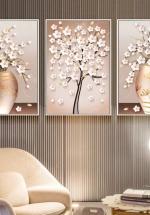 Tranh Treo Tường Bình Hoa Nghệ Thuật 04 (3 tấm 40×60 cm)