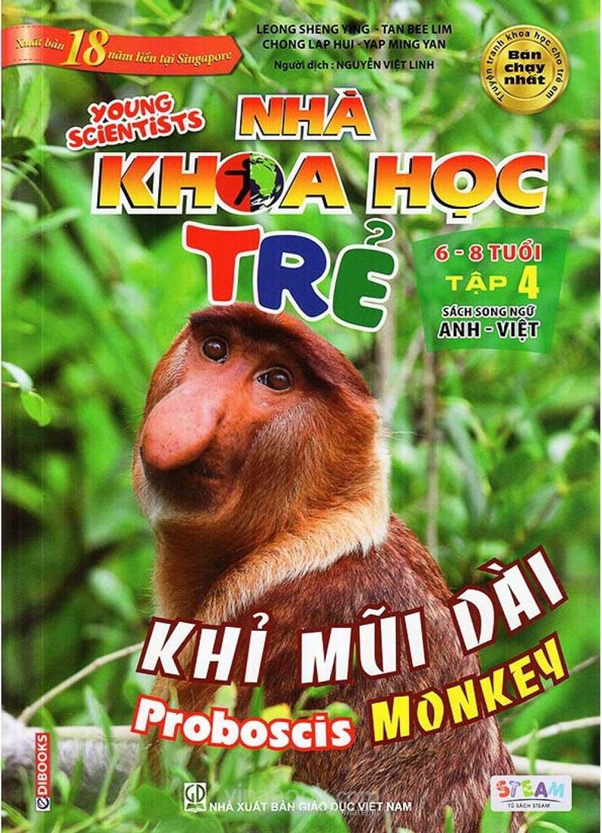 Sách Song Ngữ Nhà Khoa Học Trẻ - Tập 4: Khỉ Mũi Dài (6-8 Tuổi)
