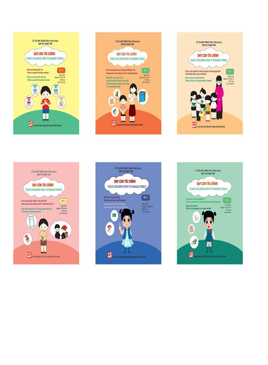 Combo Bộ Sách Dạy Con Tài Chính - Teach Children How To Manage Money (Bộ 6 Tập)
