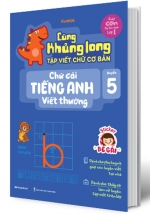 Cùng Khủng Long Tập Viết Chữ Cơ Bản - Chữ Cái Tiếng Anh Viết Thường - Quyển 5 (Bé Gái)