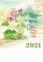 Lịch Lò Xo 7 Tờ 2021 40x60 Cm - Hương Sen - HT91