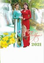 Lịch Lò Xo 7 Tờ 2021 40x60 Cm - Duyên Dáng - HT99