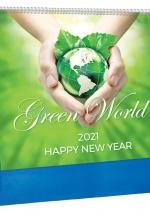 Lịch Để Bàn 2021 13 Tờ (24 x 16 Cm) - Green World - HT127