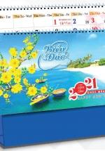 Lịch Để Bàn Chữ A 2021 (25x12 Cm) Không Note - Biển Đảo - NS30