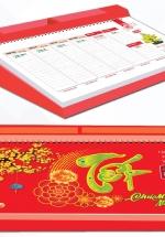 Lịch Để Bàn 2021 53 Tuần Đế Nhựa (14x27 cm) - Mùa Hoa - NS29