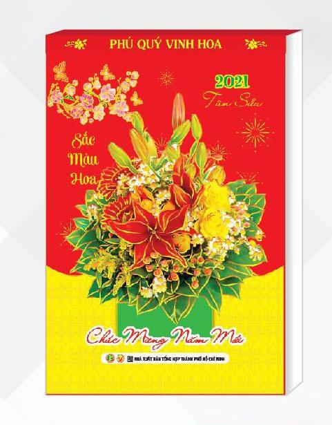 Lịch Bloc Đại 2021 (14,5x20,5cm) - Sắc Màu Hoa - NS19A