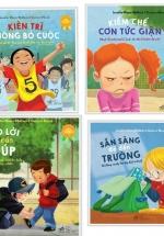 Combo Sách Kỹ Năng Song Ngữ: Kiên Trì Không Bỏ Cuộc - Kiềm Chế Cơn Tức Giận - Ngõ Lời Khi Cần Giúp - Sẵn Sàng Để Đến Trường