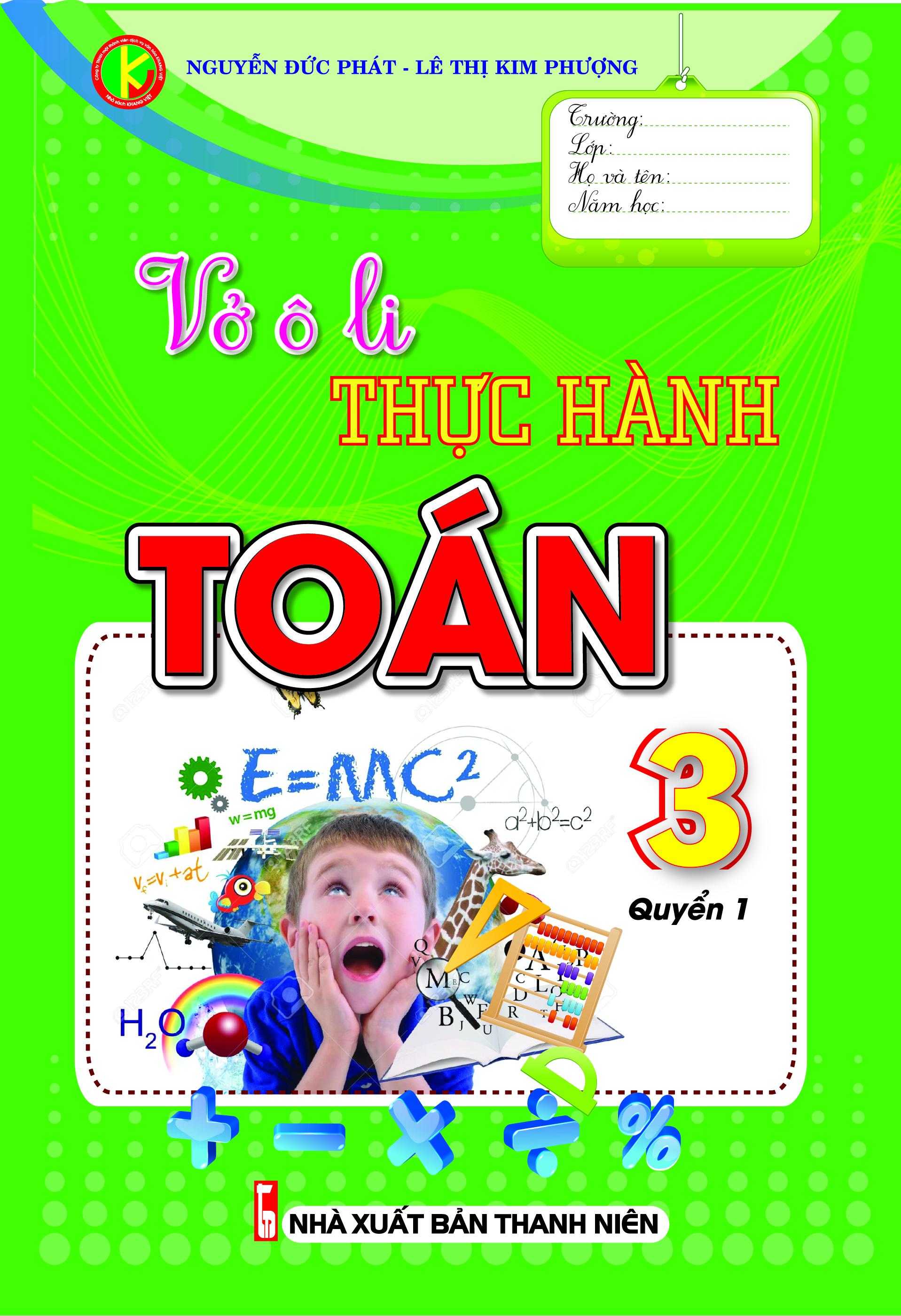 Vở Ô Li Thực Hành Toán 3 Tập 1 - EBOOK/PDF/PRC/EPUB