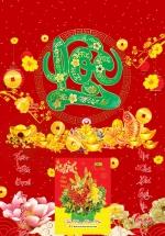 Bìa Laminate 2021 Dán Chữ Nổi (40 X 60 Cm) - Lộc