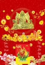 Bìa Laminate 2021 Dán Chữ Nổi (40 X 60 Cm) - Phát Tài Phát Lộc