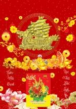 Bìa Laminate 2021 Dán Chữ Nổi (40 X 60 Cm) - Thuận Buồm Xuôi Gió