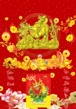 Bìa Laminate 2021 Dán Chữ Nổi (40 X 60 Cm) - Chăn Trâu Thổi Sáo 01