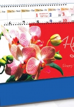 Lịch Để Bàn Chữ A 2021 (25x12 Cm) Không Note - Hoa Lan - NS33
