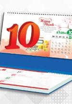 Lịch Để Bàn Chữ A 2021 (25x12 Cm) Có Note - Hưng Thịnh - NS31