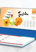 Lịch Để Bàn Chữ A 2021 (25x12 Cm) Có Note - Nghệ Thuật Sắp Đặt Cuộc Sống - NS34