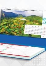 Lịch Để Bàn Chữ A 2021 (25x12 Cm) Có Note - Phong Cảnh Việt Nam - NS35