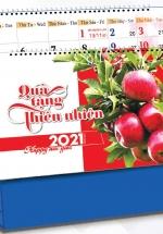 Lịch Để Bàn Chữ A 2021 (25x12 Cm) Không Note - Quà Tặng Thiên Nhiên - NS36