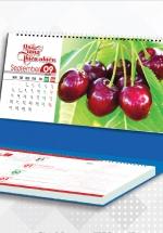 Lịch Để Bàn Chữ A 2021 (25x12 Cm) Có Note - Quà Tặng Thiên Nhiên - NS36