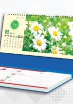 Lịch Để Bàn Chữ A 2021 (25x12 Cm) Có Note - Sắc Màu Hoa - NS37