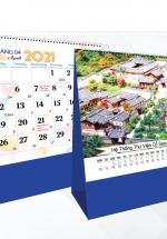 Lịch Để Bàn Chữ A 2021 (17x19 Cm) Không Note - Di Sản Thế Giới - NS42