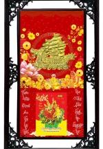 Lịch Gỗ Cao Cấp 2021 Thuận Buồm Xuôi Gió Nền Đỏ Khung Đôi (50x82 CM) + Tặng Kèm Bloc Đại Giá 85.000đ