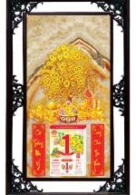Lịch Cao Cấp 2022 Mai Vàng Phú Quý Khung Đôi (50x82 Cm)