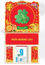 Bìa Treo Lịch Lò Xo Giữa Bế Nổi (37 x 68 Cm) Gắn Bloc Lịch 2021 - Phước Cẩm Thạch - KV204