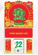 Bìa Treo Lịch Lò Xo Giữa Bế Nổi (37 x 68 Cm) Gắn Bloc Lịch 2021 - Chữ Lộc - KV205