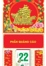 Bìa Treo Lịch Lò Xo Giữa Bế Nổi (37 x 68 Cm) Gắn Bloc Lịch 2021 - Thuận Buồm Xuôi Gió - KV224